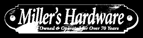 Logo Millers Hardware